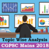 Topic Wise Analysis | CGPSC Mains 2018