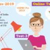 (CGPSC Pre 2019 Test Series) Test-3