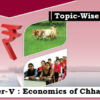 (Topic-Wise Mains Papers) Paper-V: Economics of Chhattisgarh