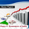 (Topic-Wise Mains Papers) Paper-V: Economics of India