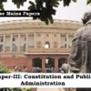 (Topic-Wise Mains Papers) Paper-III: Constitution and Public Administration (संविधान एवं लोकप्रशासन)