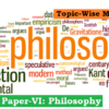 (Topic-Wise Mains Papers) Paper-VI: Philosophy