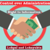 Control over Administration in India: Lokpal and Lokayukta, Right to Information