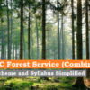 CGPSC Forest Service (Combined) 2020: Scheme and Syllabus Simplified
