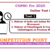(CGPSC Pre 2020 Test Series) Test-1: History of India and Chhattisgarh
