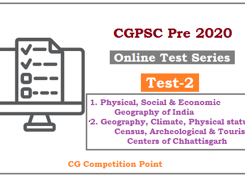 CGPSC Pre Test Series 2020 test-2
