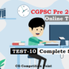 (CGPSC Pre 2020 Test Series) Test-10: General Studies