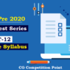 (CGPSC Pre 2020 Test Series) Test-12: General Studies