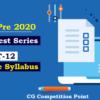 (CGPSC Pre 2020 Test Series) Test-12: General Studies